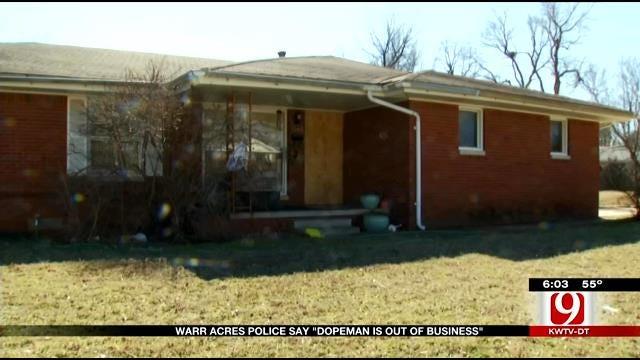 Warr Acres Police Post Sign On Suspected Drug Dealer's Home