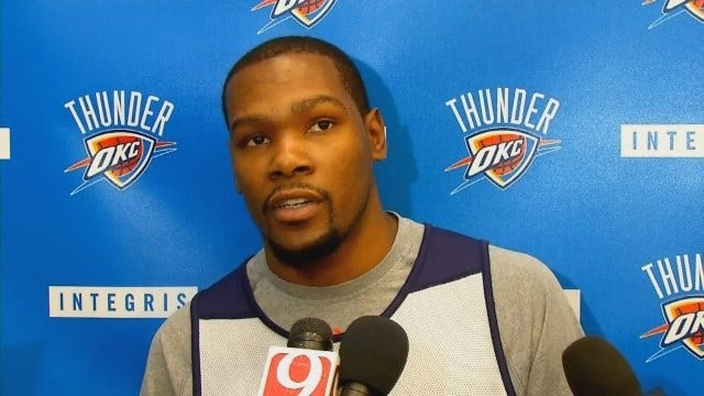 Durant Discusses Injury, Says He'll Return Friday Against Pelicans