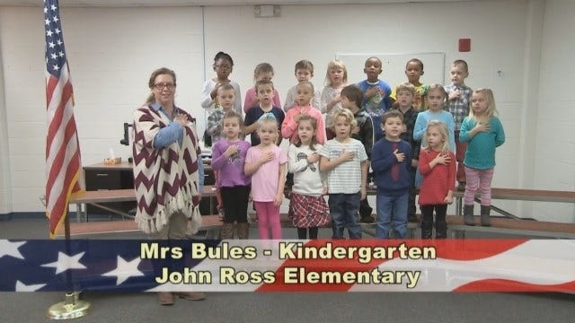 Mrs. Bules' Kindergarten Class At John Ross Elementary School