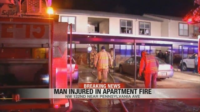 Firefighters Rescue Man From Northwest OKC Apartment Fire