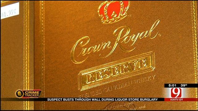 Thief Caught On Camera Burglarizing Yukon Liquor Store