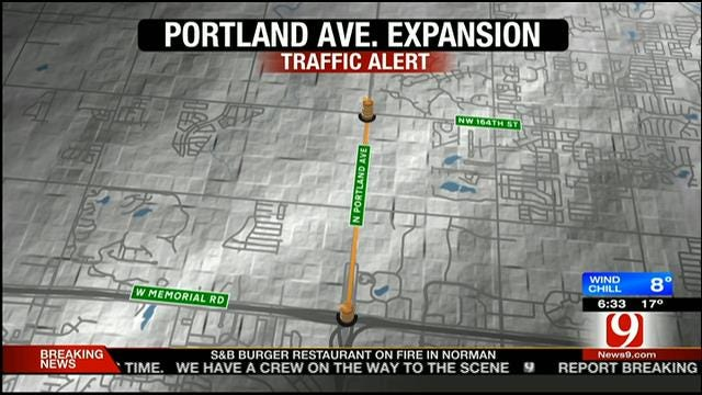 Construction Begins To Expand Portland Avenue In OKC