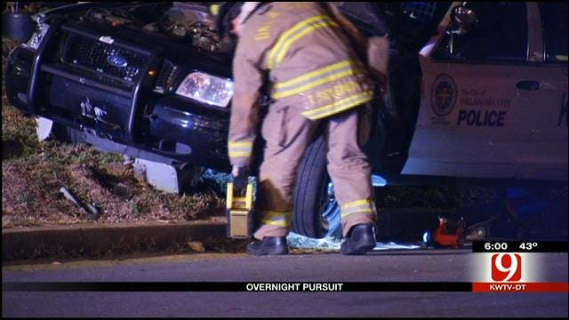 Overnight Police Pursuit In NW Oklahoma City Leads To Gas Leak