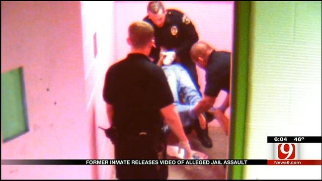 Camera Captures Former OK Co. Jail Guards In Scuffle With Inmate