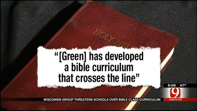 Wisconsin Group Threatens Oklahoma Schools Over Bible Class Curriculum