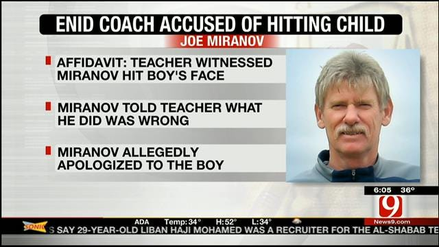 Charge Filed Against Enid HS Track Coach Accused Of Hitting Child