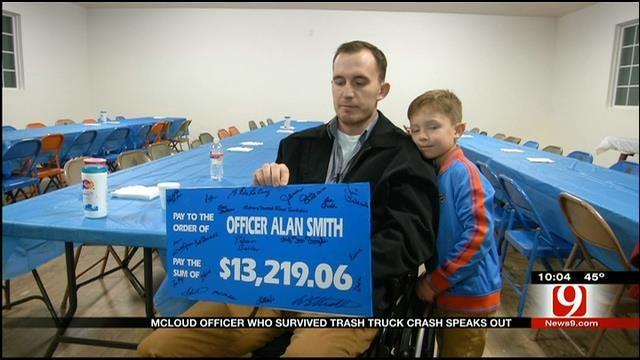 Surprise For McLoud Officer Who Survived Crash