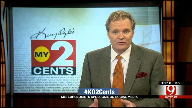 My 2 Cents: Meteorologists Apologize On Social Media