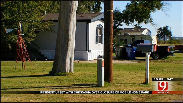 Chickasha Resident Upset After City Forces Mobile Home Park To Close