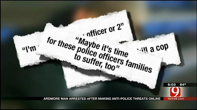 Oklahoma Man Arrested After Allegedly Making Online Threats To Kill Police, FBI Agents