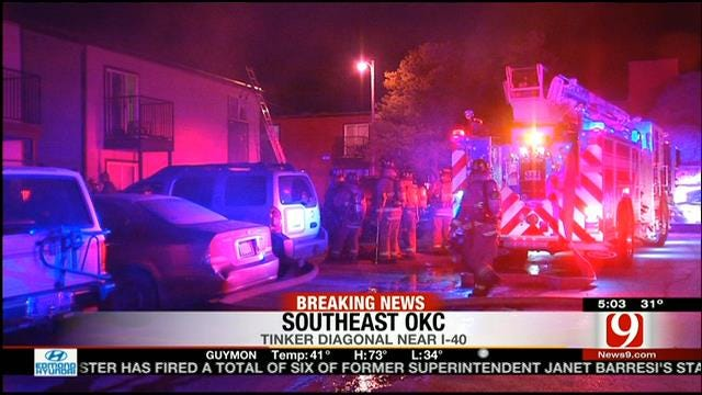 Residents Evacuated At OKC Apartment Complex Due To Fire