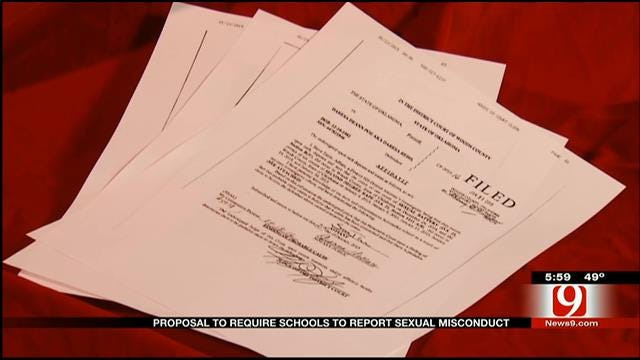 Bill Proposed To Help Report Sexual Misconduct In Oklahoma