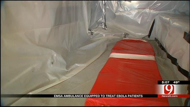 EMSA Ambulance Equipped To Treat Ebola Patients