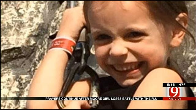 Prayers Continue After Moore Girl Loses Battle With Flu