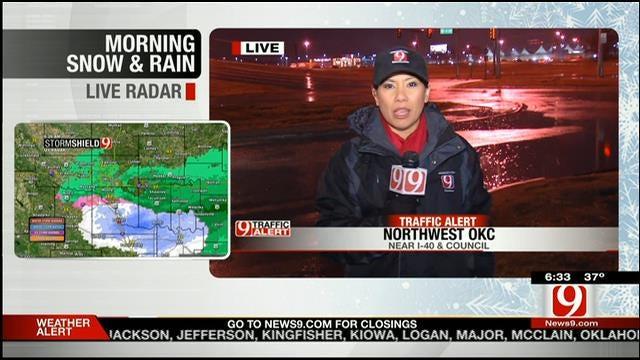 Rachel Calderon Reports On Road Conditions In OKC