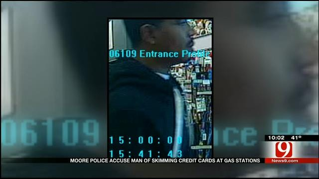 Moore Police Search For Man Skimming Credit Cards
