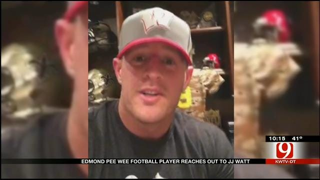 Edmond Pee Wee Football Player Reaches Out To Pro Athlete
