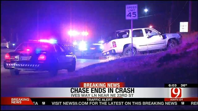 Five Injured Following Police Chase In Spencer And Nicoma Park