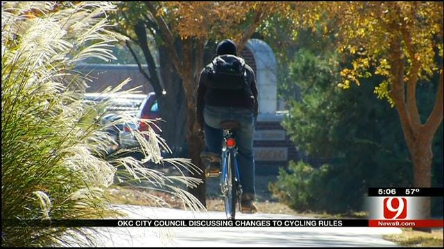 OKC City Council Discussing Changes To Cycling Rules