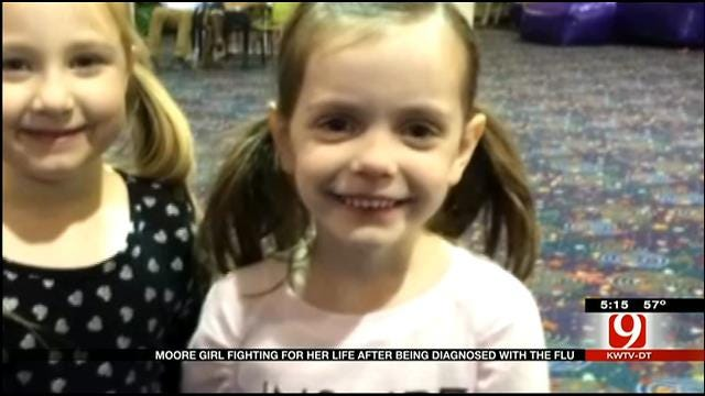 Moore Girl, 5, Fighting For Her Life After Contracting Flu