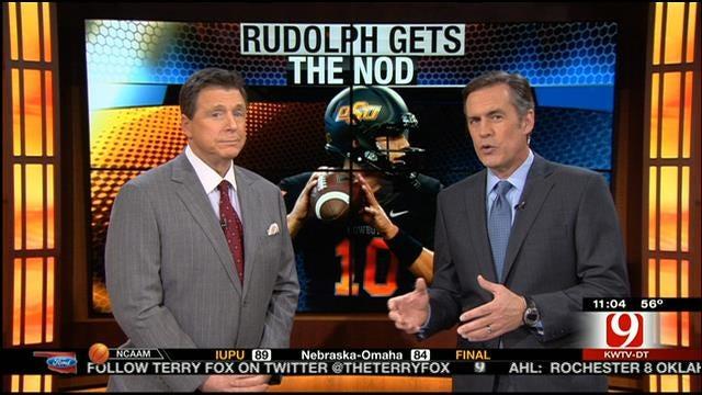 Gundy Names Rudolph Starting QB Going Forward