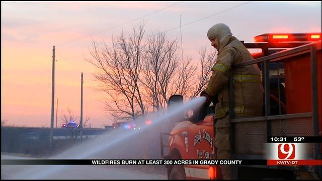 Wildfire Burns 300 Acres Near Chickasha