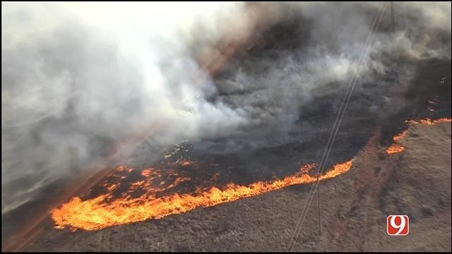WEB EXTRA: SkyNews 9 Flies Over Logan County Wild Fires