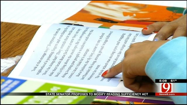 State Senator Proposes To Modify Reading Sufficiency Act