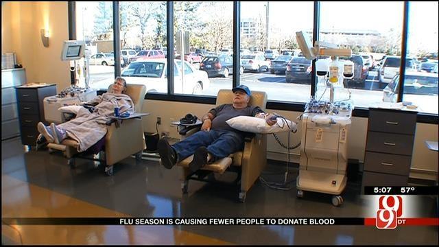 OBI Blood Shortage Concerns During Flu Season