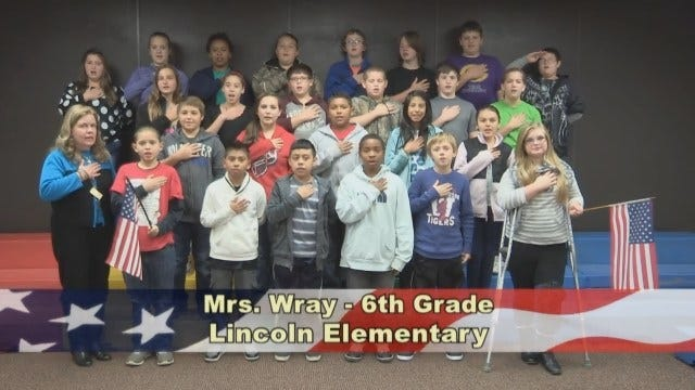 Mrs. Wray's 6th Grade class at Lincoln Elementary School