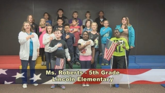 Ms. Roberts' 5th Grade class at Lincoln Elementary School
