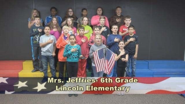 Mrs. Jefferies' 6th Grade class at Lincoln Elementary School