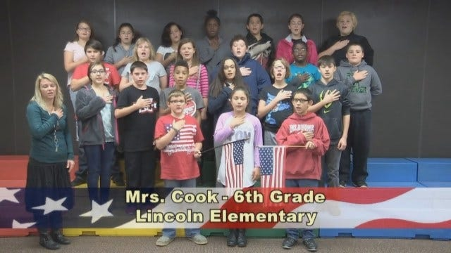 Mrs. Cook's 6th Grade class at Lincoln Elementary School