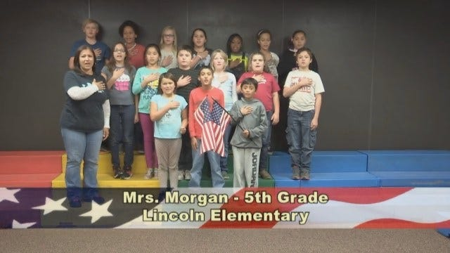 Mrs. Morgan's 5th Grade class at Lincoln Elementary School