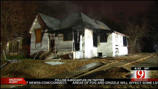 Authorities: Homeless Person May Have Started Fire Inside Vacant OKC Home
