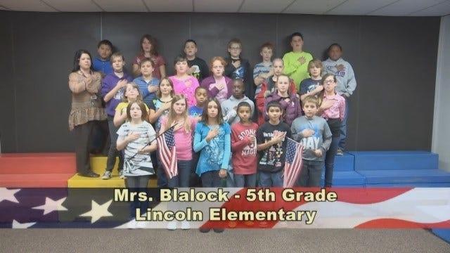 Mrs. Blalock's 5th Grade Class At Lincoln Elementary School