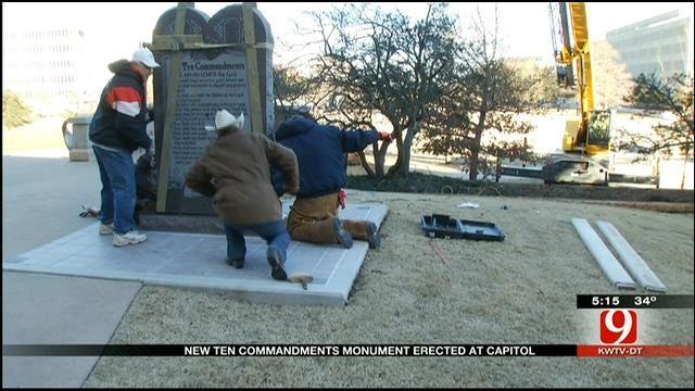 Contractor Hails Reconstruction Of Ten Commandment Monument At OKC Capitol