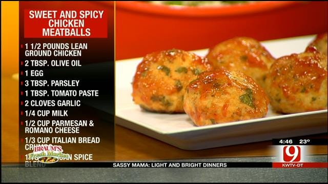 Sweet And Spicy Chicken Meatballs