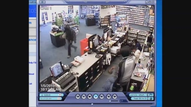 WEB EXTRA: Suspects Caught On Camera Robbing OKC Game Stop At Gunpoint