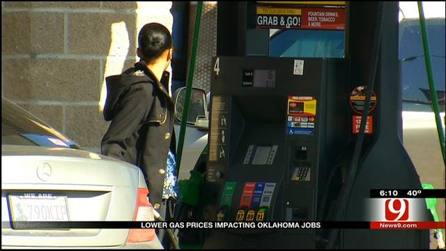 Lower Gas Prices Impact Oklahoma Jobs