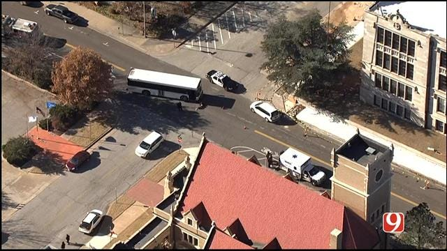 WEB EXTRA: SkyNews 9 Flies Over Injury Accident Involving City Bus