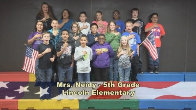 Mrs. Neidy's 5th Grade class at Lincoln Elementary School