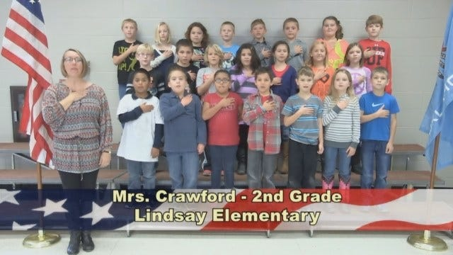 Mrs. Crawford's 2nd Grade class at Lindsay Elementary School
