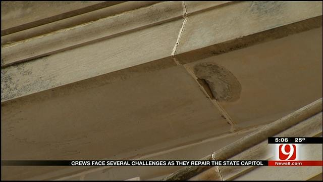 Crews Face Several Challenges At They Repair OK Capitol