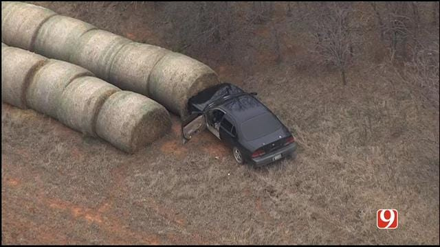 Authorities Search For Suspect After Pursuit Ends In Crash Near Piedmont