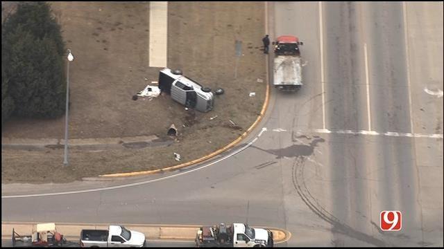WEB EXTRA: SkyNews9 Flies Over Crash After Norman Police Pursuit