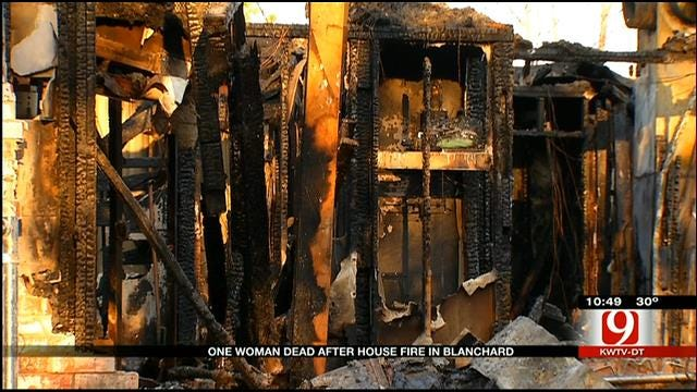 Blanchard Woman Dies In House Fire