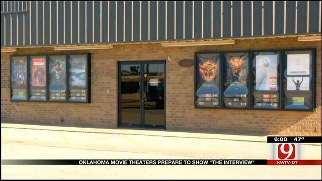 """Oklahoma Theaters Prepare to Show """"The Interview"""""""