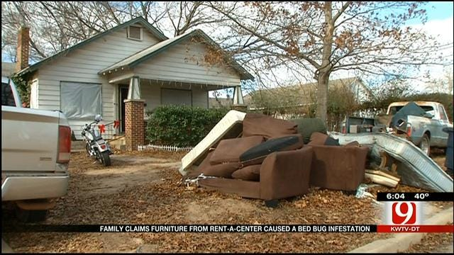 Family Claims Rent A Center Furniture Cause Bed Bug Infestation