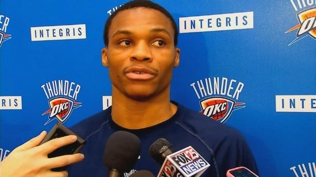 Thunder's Westbrook Wants To Cut Back On 3-Point Shots